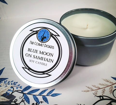 Blue Moon on Samhain Soy Candle