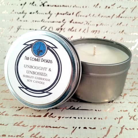 Unbought & Unbossed: Tribute to Shirley Chisholm Soy Candle