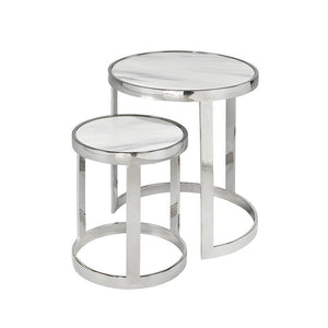 nest tables marble top