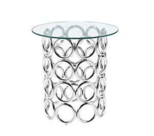 monte carlo side table polished stainless steel