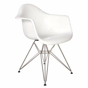 DAR Plastic Arm Chair Chrome Base