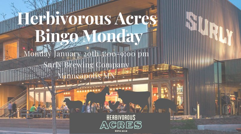 Banner image for BINGO at Surly Brewing to benefit Herbivorous Acres