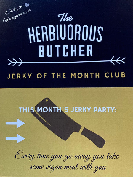 postcard for The Herbivorous Butcher jerky of the month club
