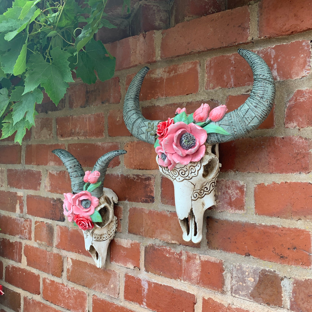Rams Skull With Flowers