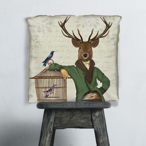 Deer And bamboo Cage Cushion