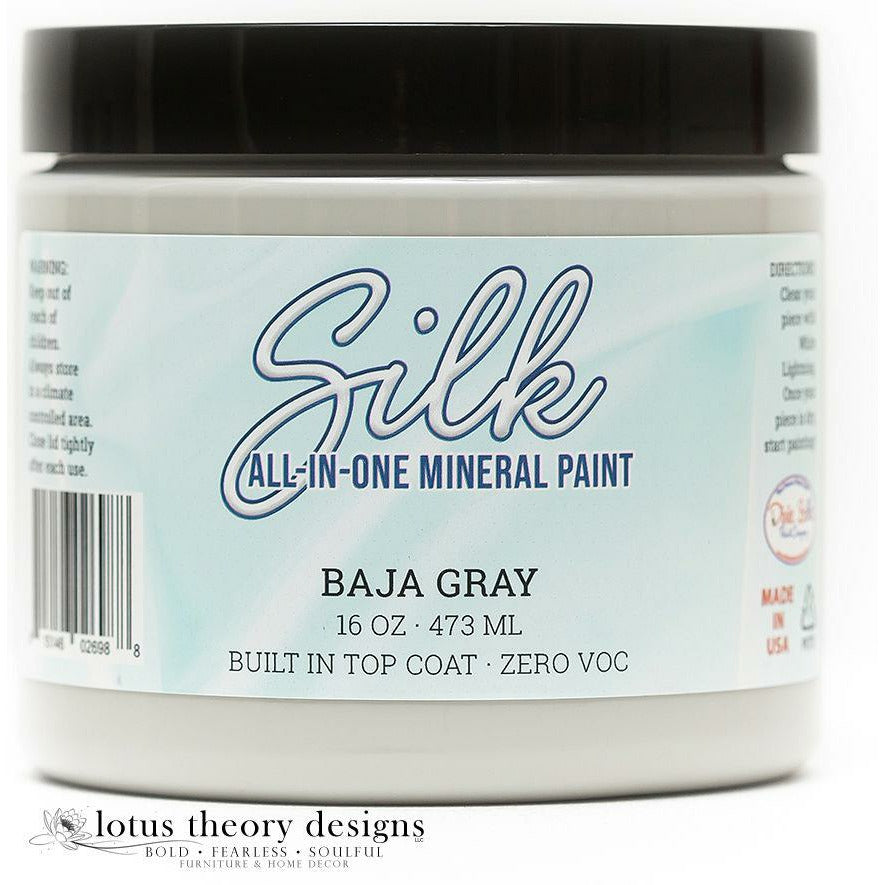 Dixie Belle Paint -  Silk All-In-One Mineral Paint - Baja Gray
