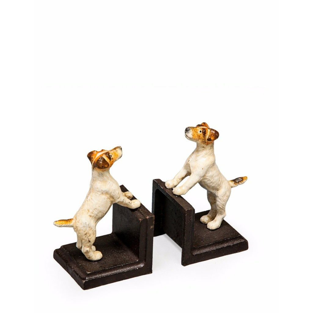 Cast Iron Antiqued Pair of Terrier Bookends