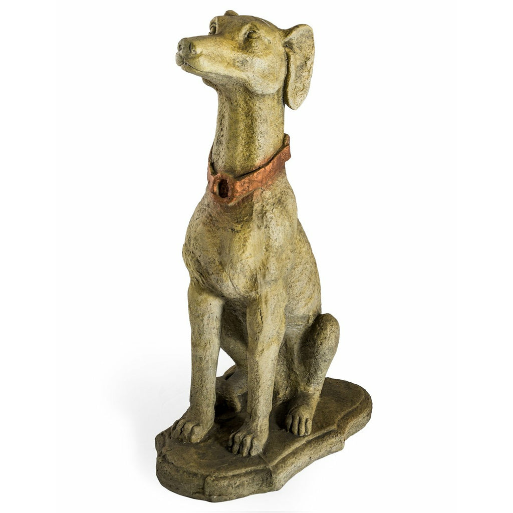 Extra Large Rustic Stone Effect Dog Statue