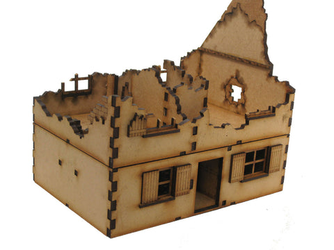 New Release Quot Ruined House 3 Quot 28mm Laser Cut Building