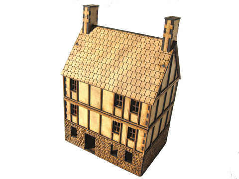 "28mm 1:56 ""3 Storey House"", Part Timbered"