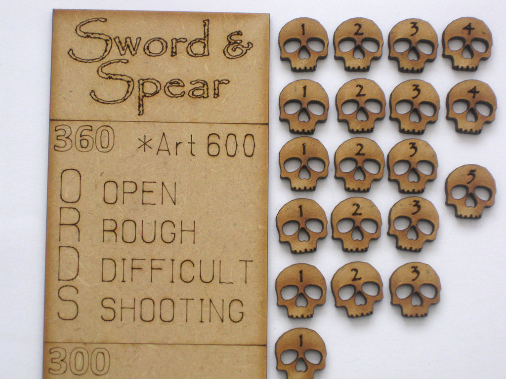 """Sword & Spear"" Data Stick & Tokens 60mm"