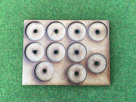 10 Man Loose Order Movement Tray AM (based on UK 1p) with magnet holes