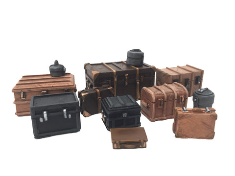 "28mm 1:56 Resin ""Baggage"" set of 13 by Slug Industries"