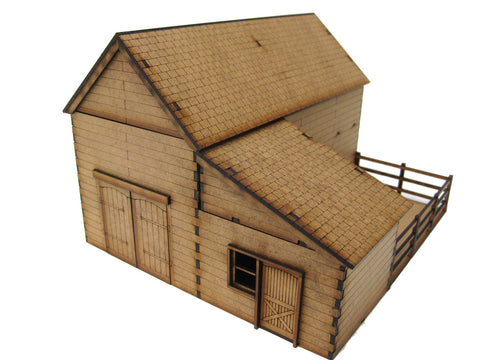 "28mm 1:56  ""Wooden Barn"""
