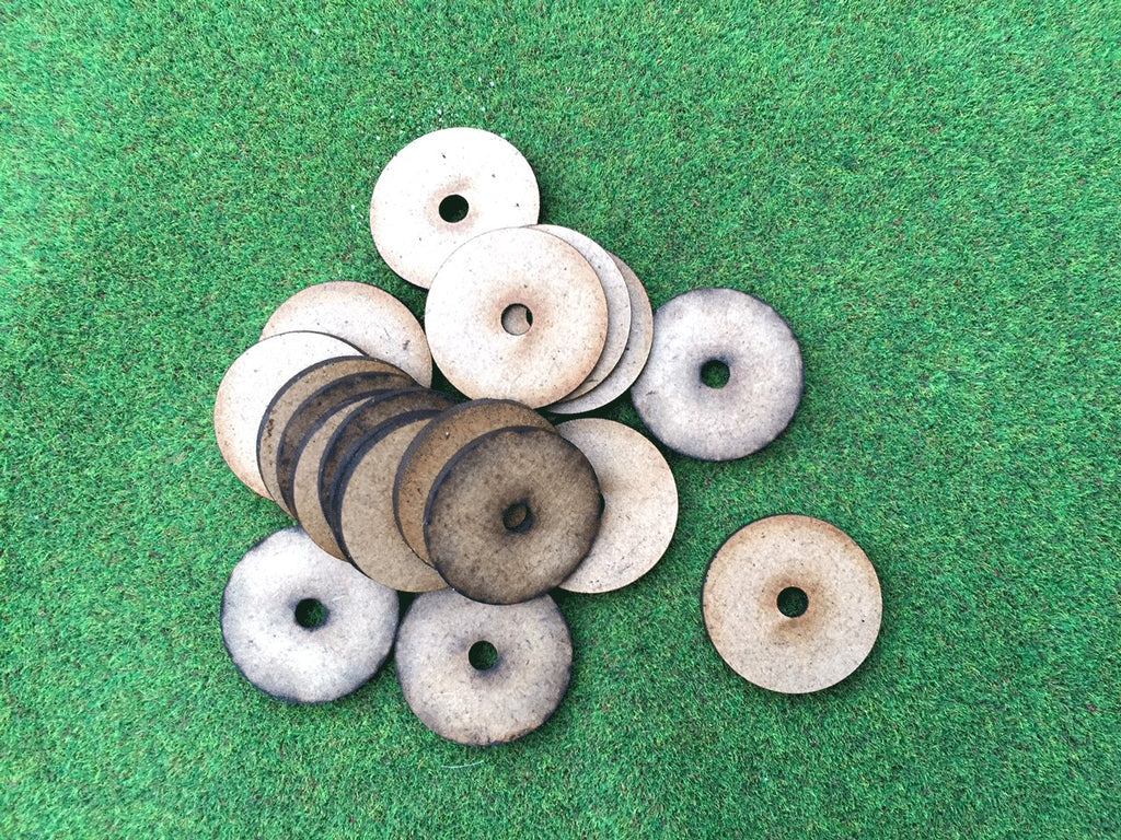 25mm Round Magnet Hole Bases 2mm thick:  pack of 20