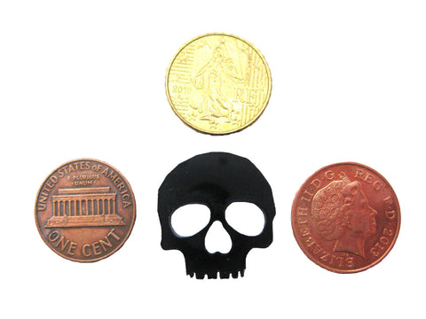 Large Skull Tokens 3mm Black Acrylic set of 12