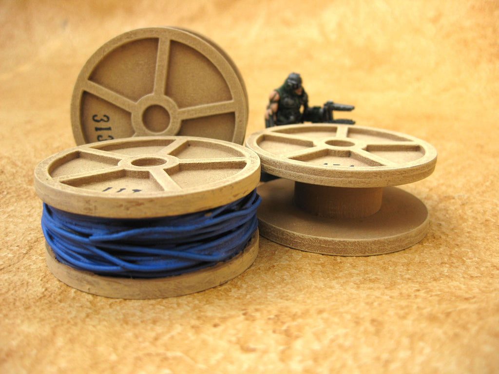 "28mm 1:56 Sci-Fi ""Cable Reels"" Set of 3"