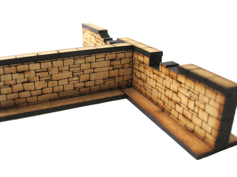 28mm 1:56 Stone Walls (4 x short pieces )