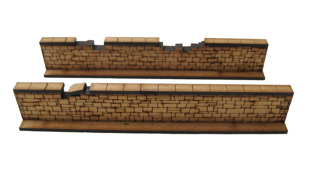 28mm 1:56 Stone Walls (2 x slightly damaged pieces)
