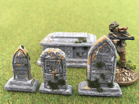 "28mm 1:56 Resin ""Graveyard"" set of 15 by Debris of War"