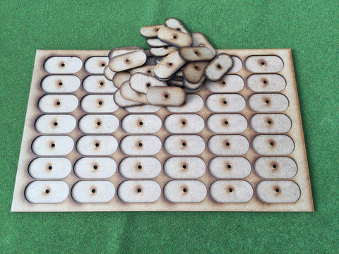 Storage Tray F (Box liner tray for 42  models) on 25mm x 50mm pill bases  INCLUDING horse pill bases