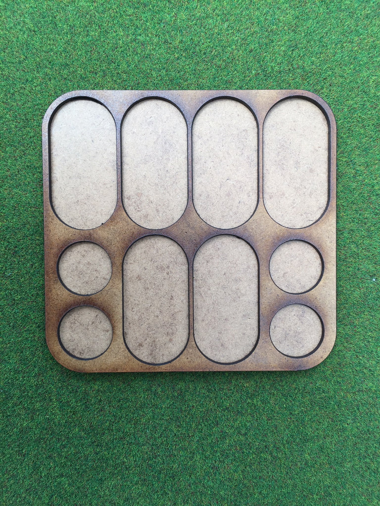 Foot Cavalry Movement Tray (25mm pill bases & 1p round) 6 horse 4 foot
