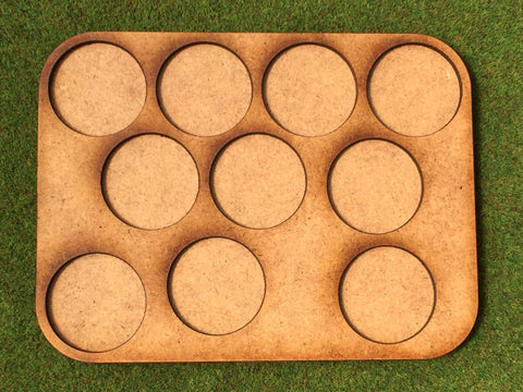 10 Man Loose Order Movement Tray A (25mm round)