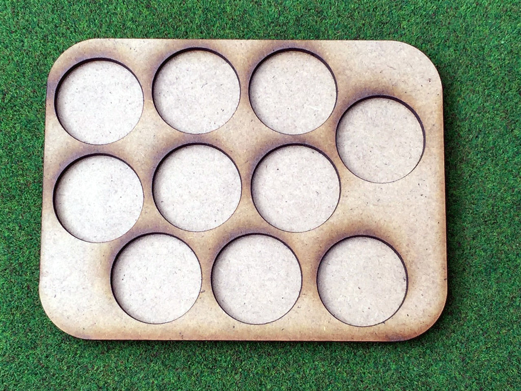 10 Man Loose Order Movement Tray B (25mm round)