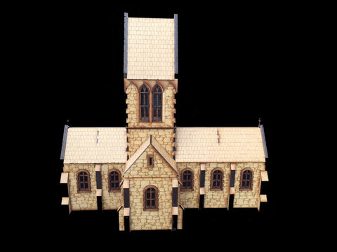 "28mm 1:56 ""Eglise"" (French Church) STONE WALL VERSION"