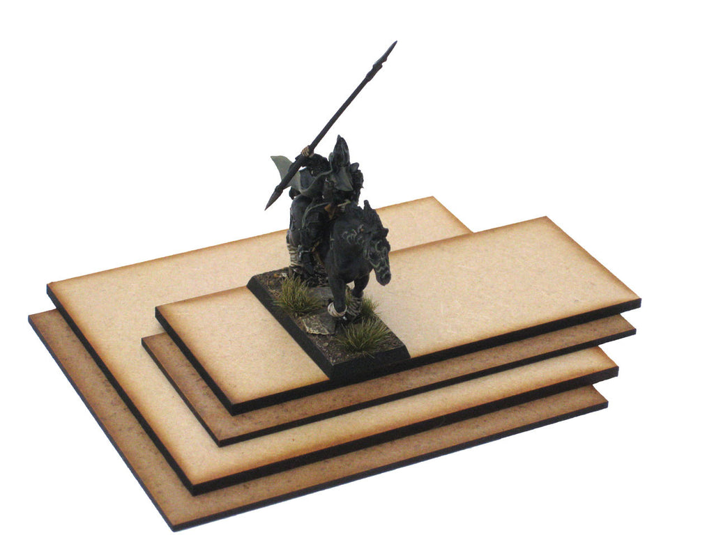 Multi Base 125mm x 50mm x 2mm (Cavalry Troop)
