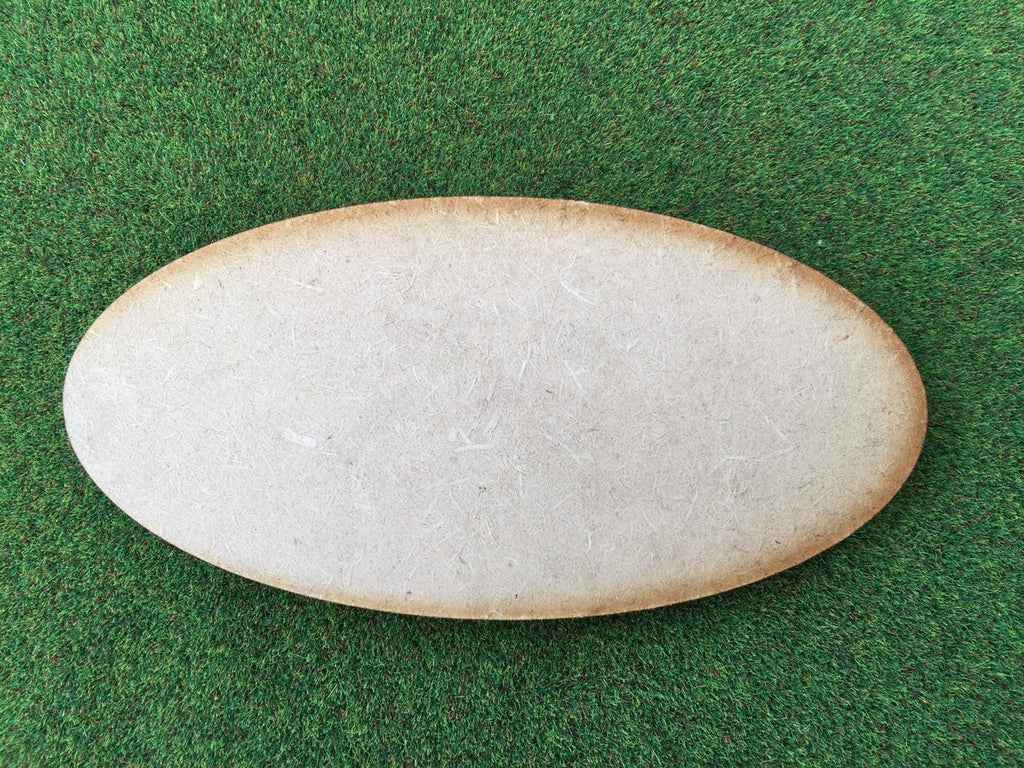 Oval Bases 100mm x 50mm  2mm thick: pack of 3