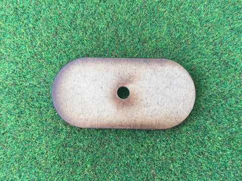 25mm x 50mm Pill Shaped Bases 2mm thick:  pack of 12 with magnet holes