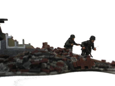 28mm 1:56 Resin Rubble Piles set of 8