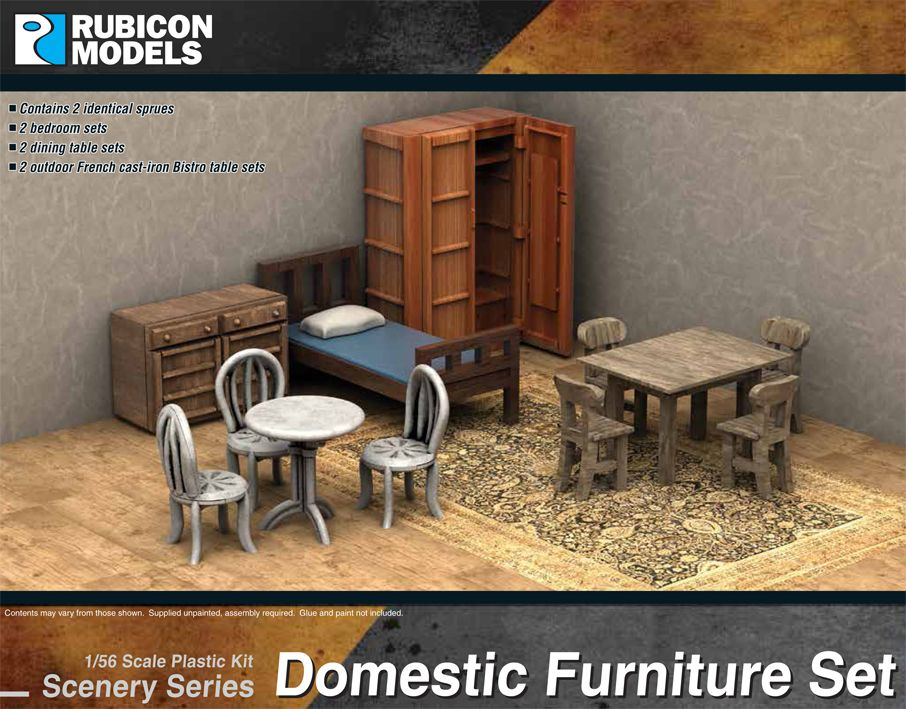 Any: Rubicon 28mm 1/56 : Domestic Furniture Set (283007)