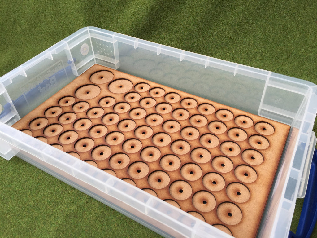 Storage Tray D (Box liner for 69 models) on 25mm round bases  + leaders SAGA