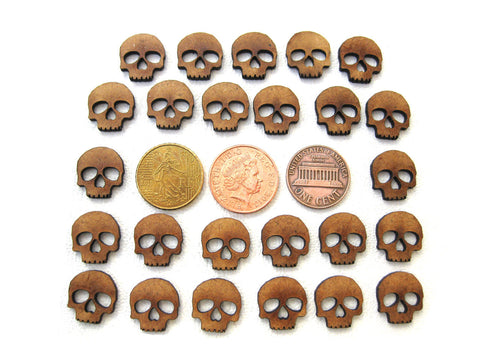 Skull Tokens 2mm MDF set of 25