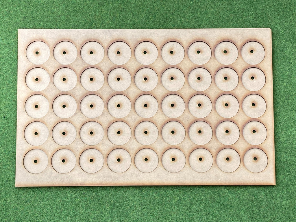 Storage Tray ( Box liner for 45 Models ) On 32mm round bases