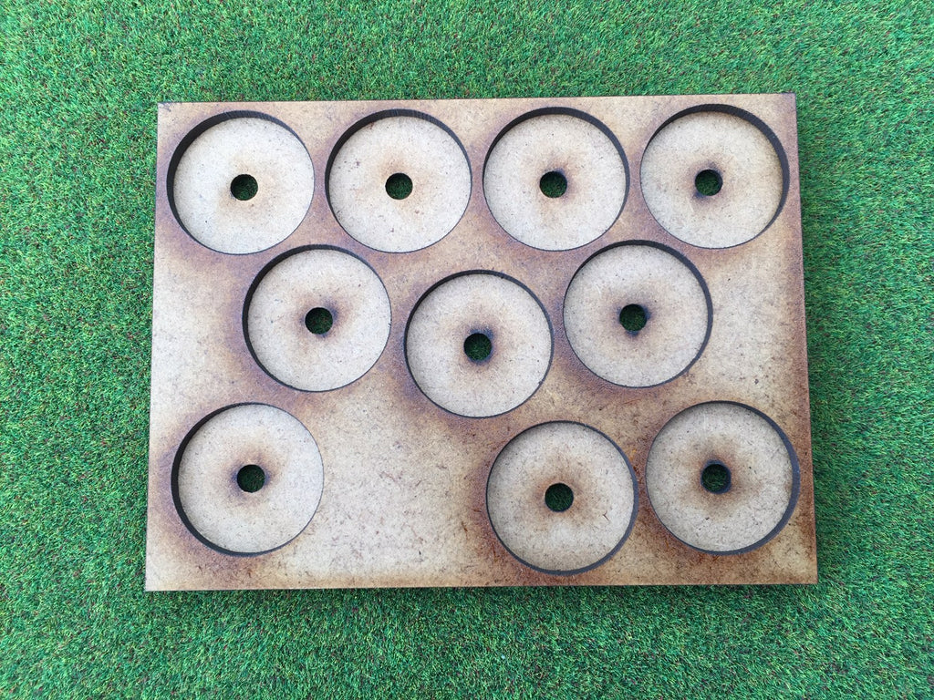 10 Man Loose Order Movement Tray DM (based on UK 1p) with magnet holes