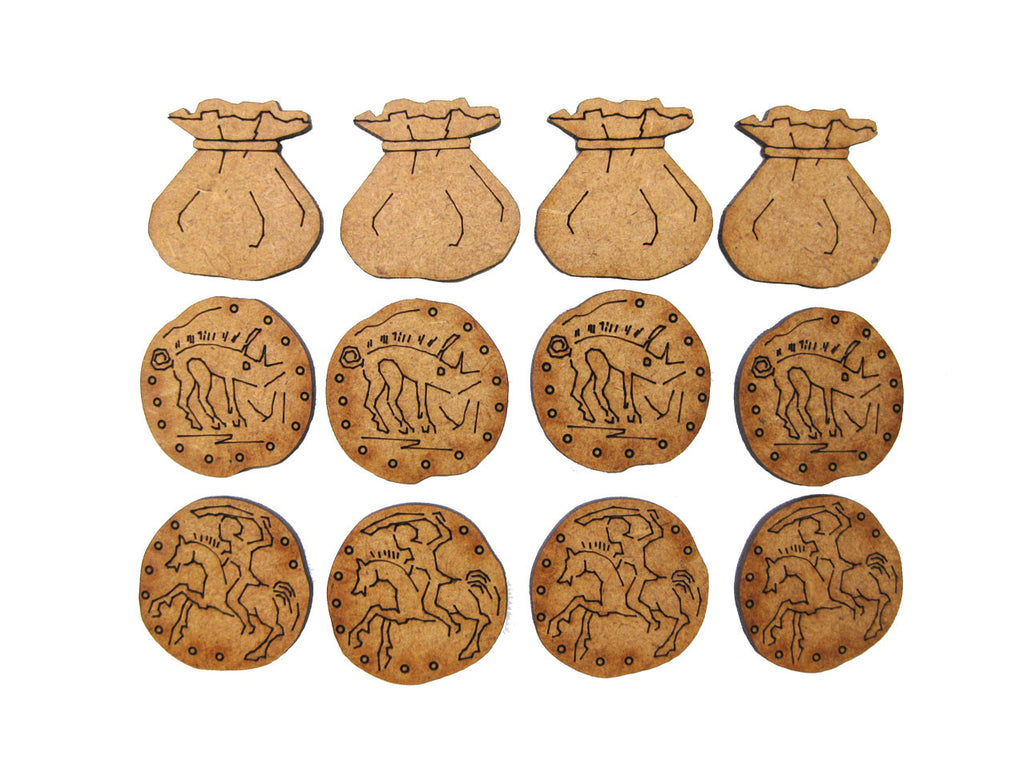 Treasure Tokens set of 12