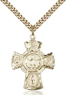 Five-Way Medal - Gold Filled Medal & Gold Plated Chain