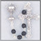 First Communion Rosary - Black