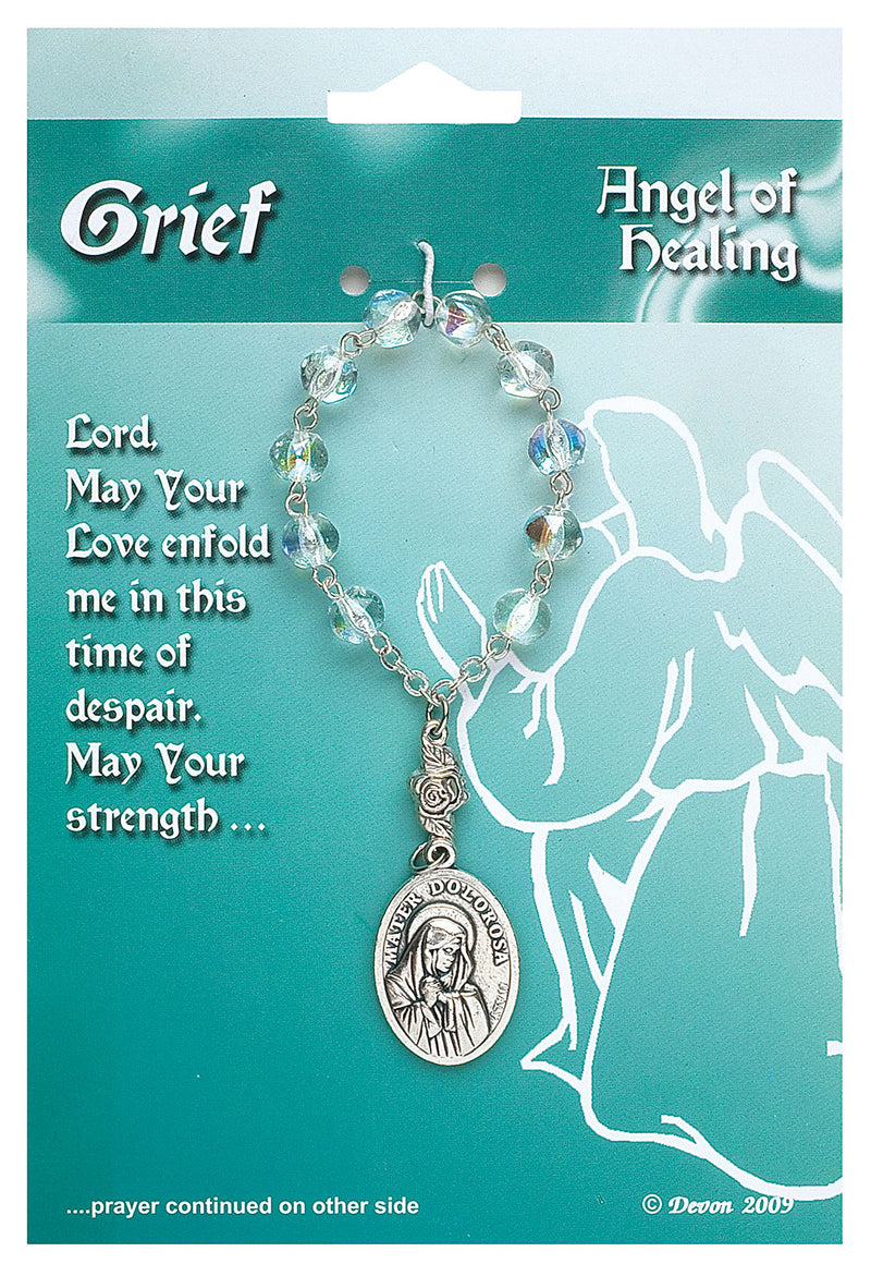 Patron Blessings One Decade Rosary - Grief - Angel of Healing