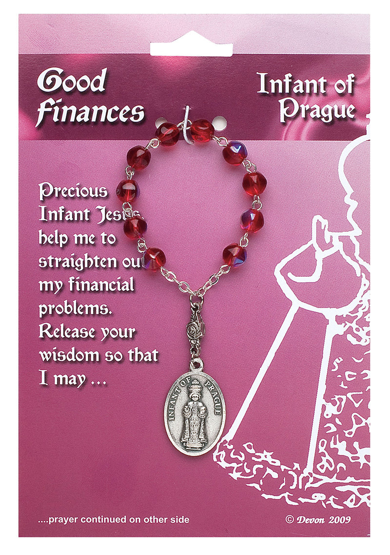 Patron Blessings One Decade Rosary - Good Finances - Infant of Prague