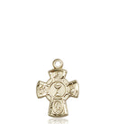 First Communion Five-Way Medal - 14 Karat Gold