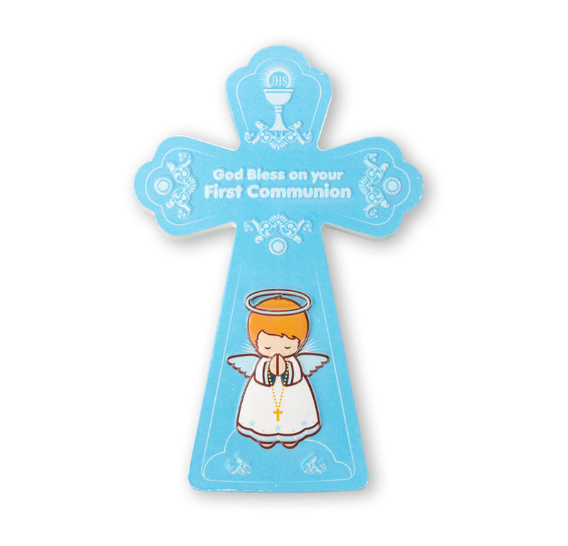 Resin Communion Cross with Blessing (Boys)