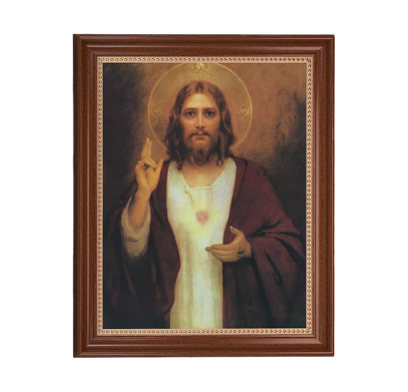 "Sacred Heart of Jesus Framed Print -11"" x 14"" (2 Frame Options)"