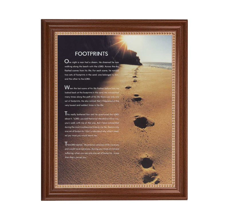 "Footprints Framed Print - 11"" x 14"" (2 Frame Options)"