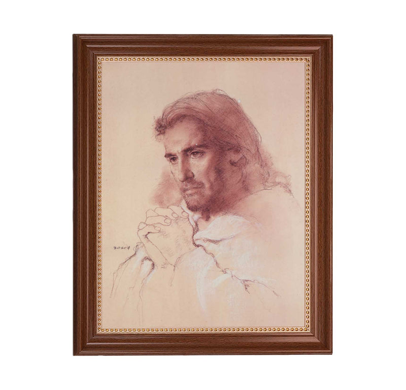 "Prayerful Christ Framed Print - 11"" x 14"" (2 Frame Options)"