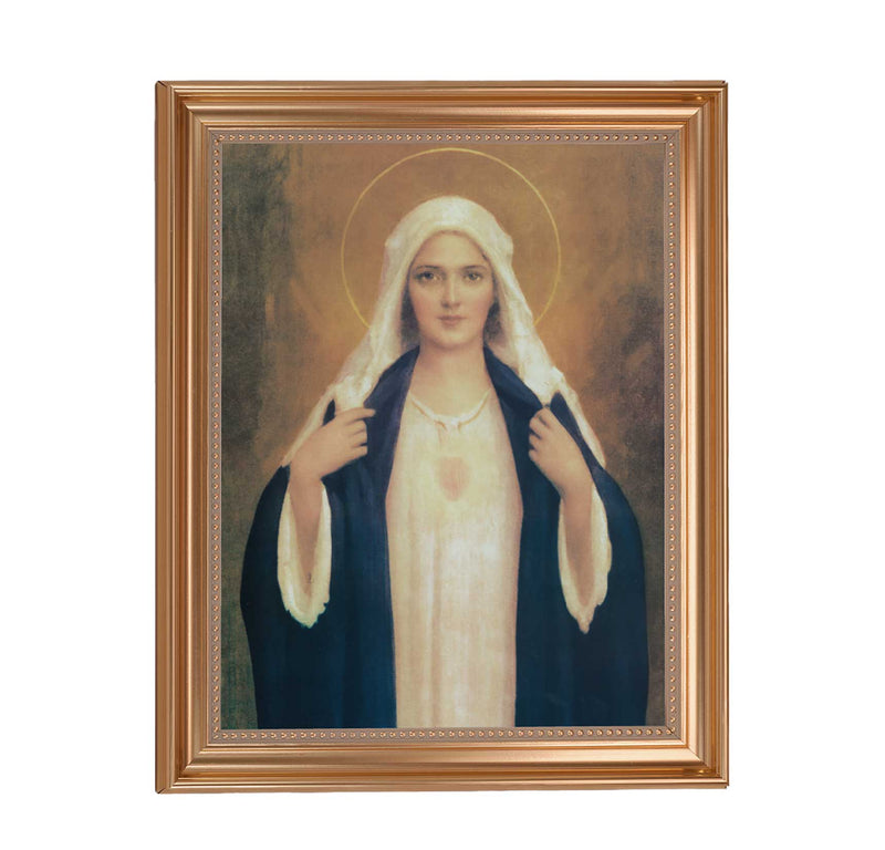 "Immaculate Heart of Mary Framed Print - 11"" x 14"" (2 Frame Options)"