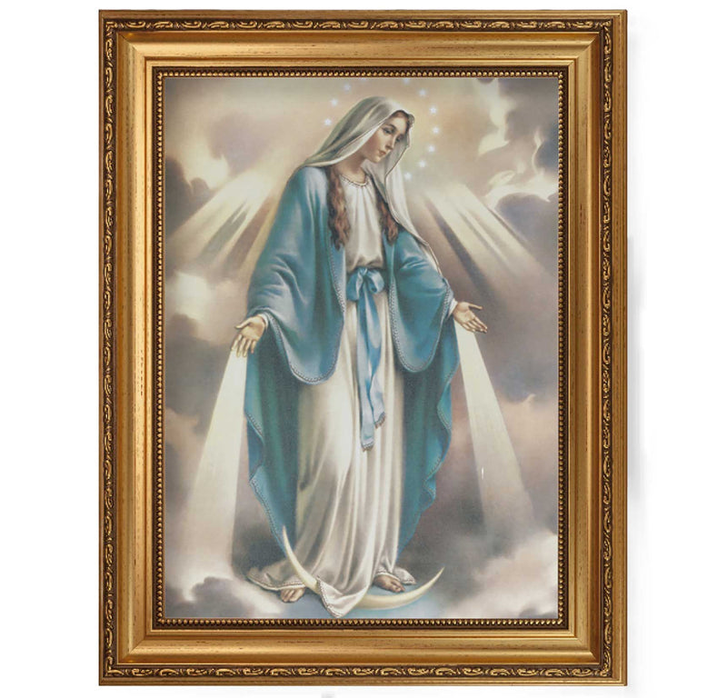 "Our Lady of Grace Framed Fine Art Canvas Print - 12"" x 16"" (2 Frame Options)"